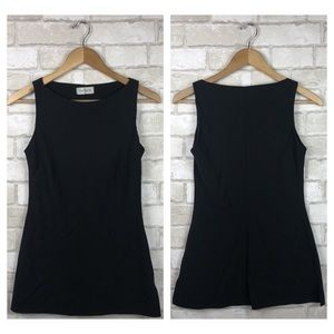 Topshop Sleeveless Black Top Size 6